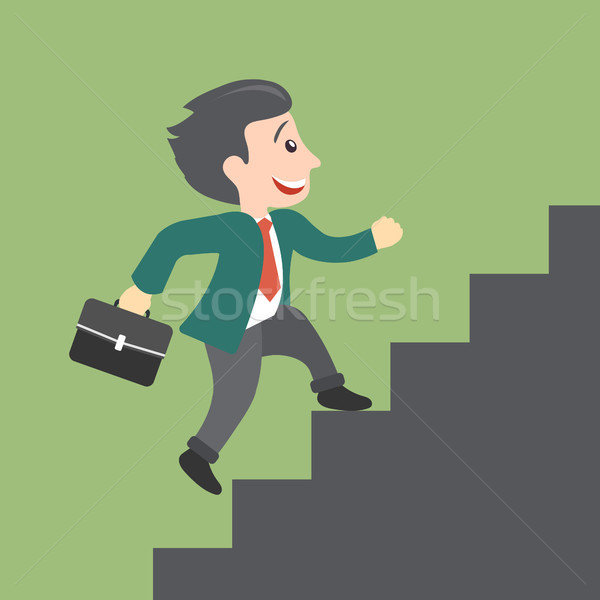 Działalności rozwoju kariery wzrostu człowiek wspinaczki Zdjęcia stock © makyzz