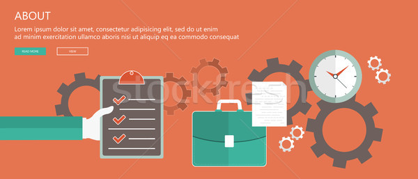 About Us concept. Flat vector illustration Stock photo © makyzz