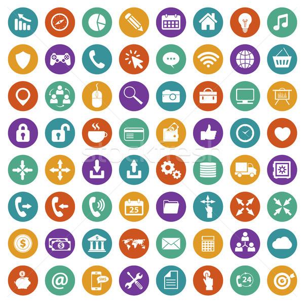 App icon set. Flat vector Stock photo © makyzz