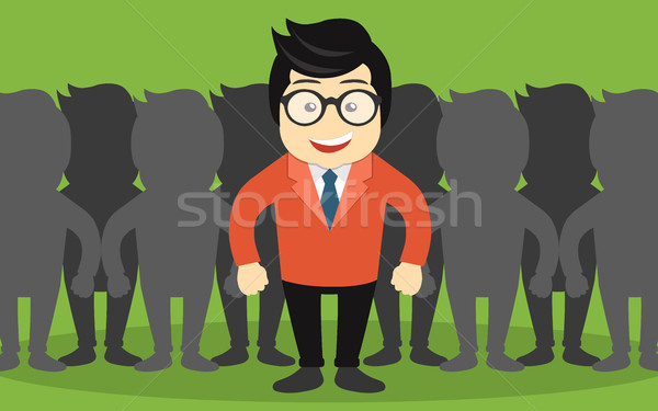 Find the right person for the job concept. Hiring and recruitment. Flat vector design Stock photo © makyzz