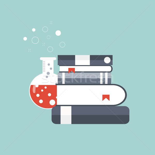 Concept for science, medicine and knowledge. Flat vector illustration Stock photo © makyzz