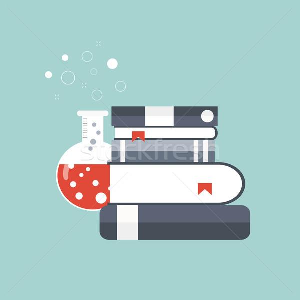 Tudomány gyógyszer tudás terv laboratórium tanulás Stock fotó © makyzz