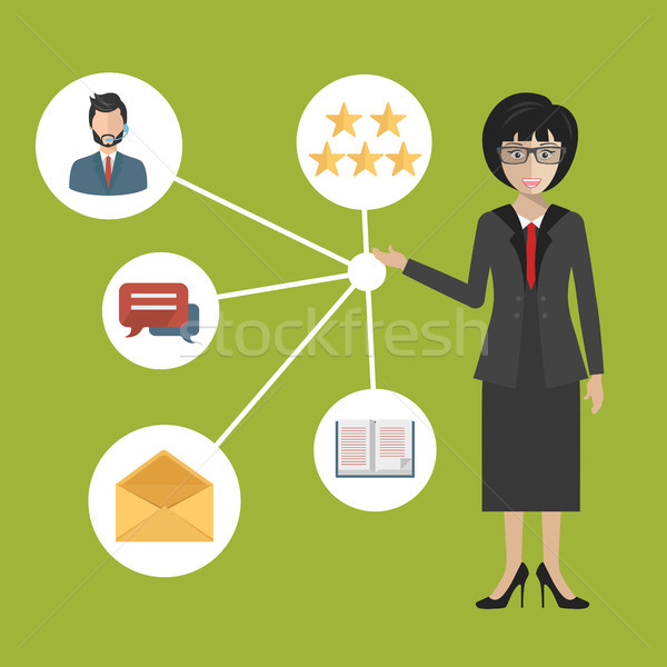 Customer Relationship Management. System for managing interactions with current and future customers Stock photo © makyzz