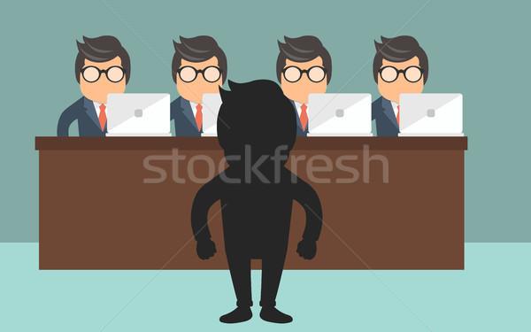 Entrevista candidato posiciones oficina trabajo Foto stock © makyzz