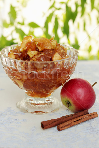 Jam appel specerijen voedsel natuur Stockfoto © mallivan