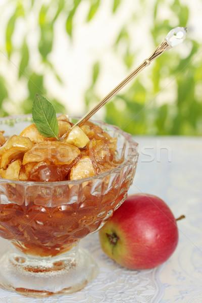 Azucarado manzana menta atasco rebanadas especias Foto stock © mallivan