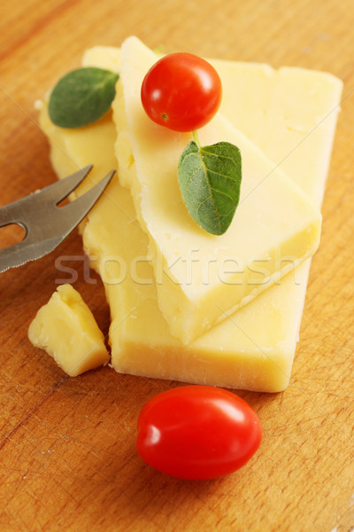 cheese with a knife Stock photo © mallivan