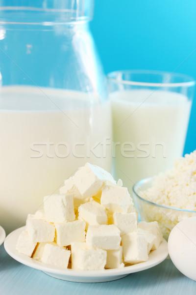 フェタチーズ カット スライス プレート 葉 健康 ストックフォト © mallivan