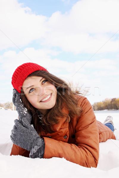 мечта снега красивой стороны моде Сток-фото © mallivan