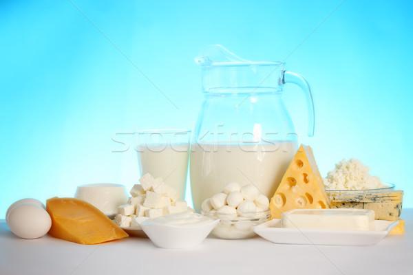 Zachte stilleven kaas Blauw eieren Stockfoto © mallivan