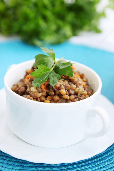 Lentil porridge with parsley Stock photo © mallivan