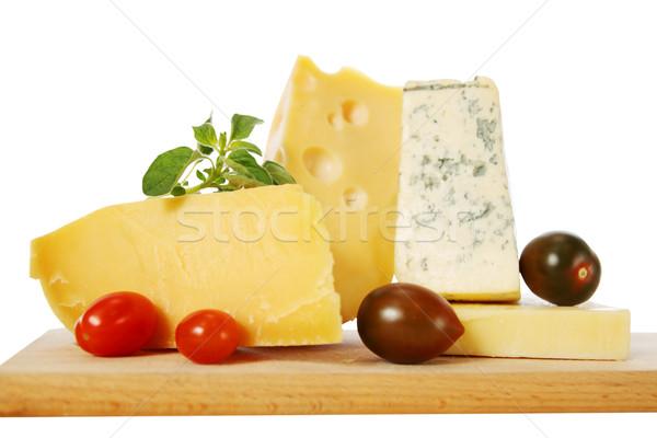 cheese with oregano and tomato Stock photo © mallivan