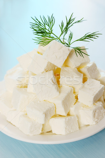 Prato cortar fatias folha saúde Foto stock © mallivan