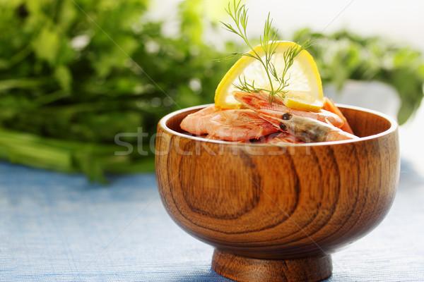 креветок лимона чаши фрукты Сток-фото © mallivan