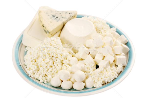 молочная натюрморт мягкой сыра фермы Сток-фото © mallivan