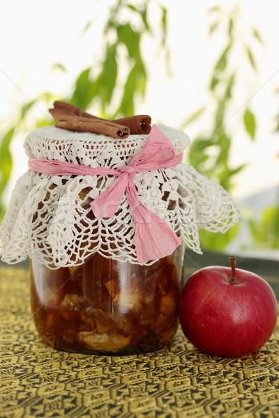 Jar appel jam specerijen voedsel Stockfoto © mallivan