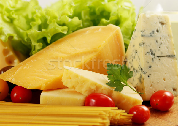 сыра спагетти натюрморт различный синий группа Сток-фото © mallivan