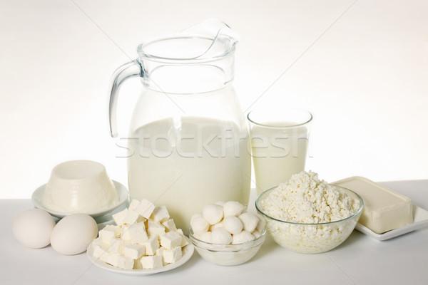 Variëteit stilleven zachte kaas boerderij Stockfoto © mallivan