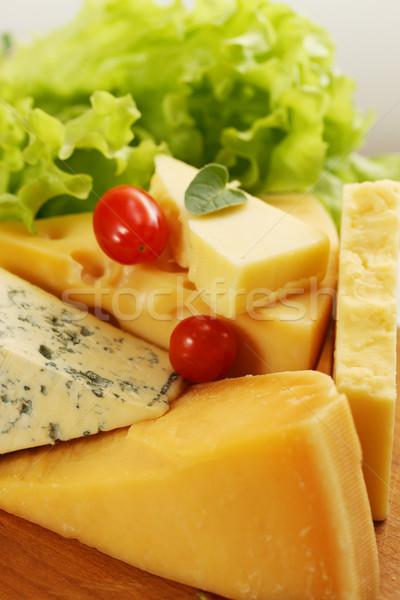 сыра разнообразие натюрморт различный синий группа Сток-фото © mallivan