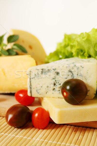 Kaas klein tomaten stilleven verschillend Blauw Stockfoto © mallivan
