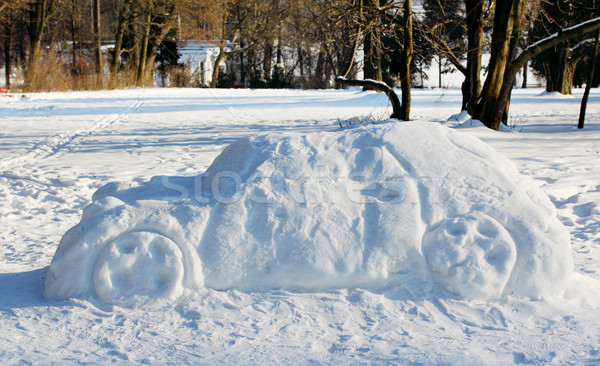big car out of the snow Stock photo © mallivan