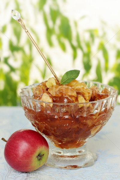 засахаренный яблоко Jam Ломтики специи продовольствие Сток-фото © mallivan