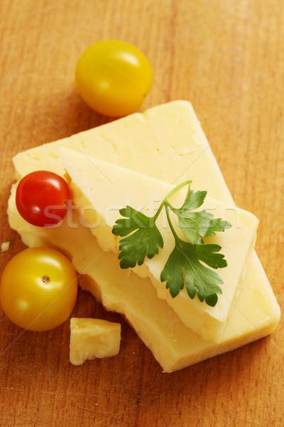 cheese with parsley Stock photo © mallivan