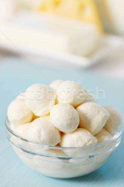 Klein mozzarella transparant kom groep Stockfoto © mallivan