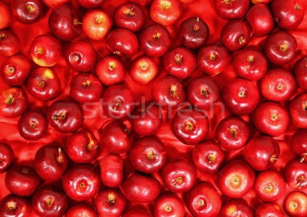 Rood appels satijn weefsel textuur voedsel Stockfoto © mallivan