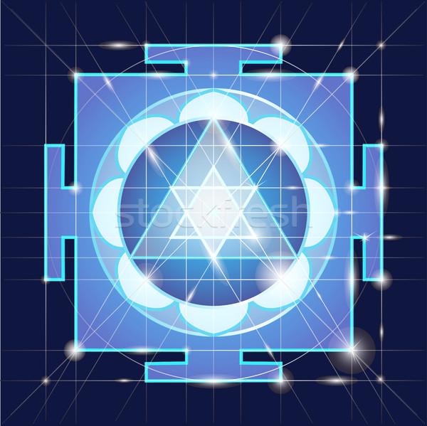 Sagrado geometría cósmico energía flor amor Foto stock © Mamziolzi