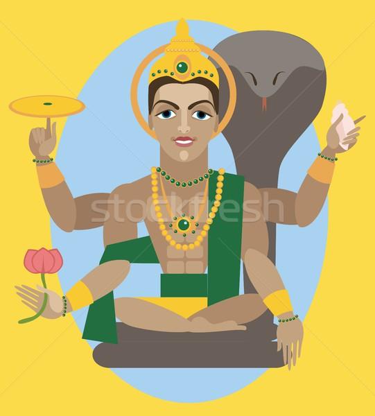 vector lord Vishnu  Stock photo © Mamziolzi