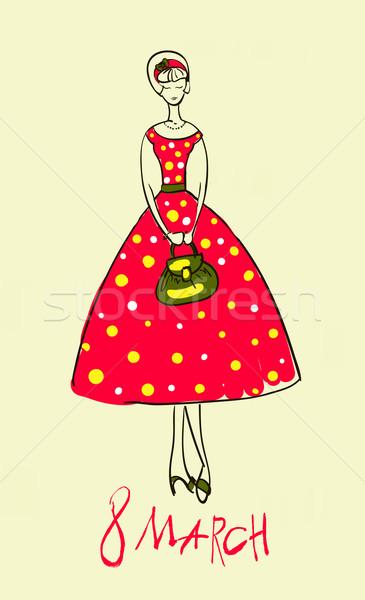 Illustrazione ragazza set modello design decorazione Foto d'archivio © Mamziolzi