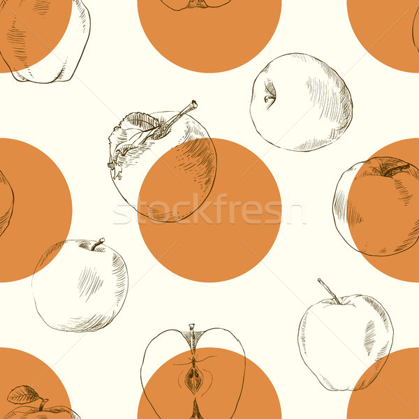 seamless pattern apples Stock photo © Mamziolzi
