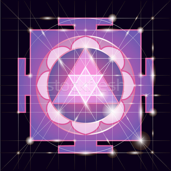 Sree  Ganapati Yantra. Sacred Geometry Stock photo © Mamziolzi