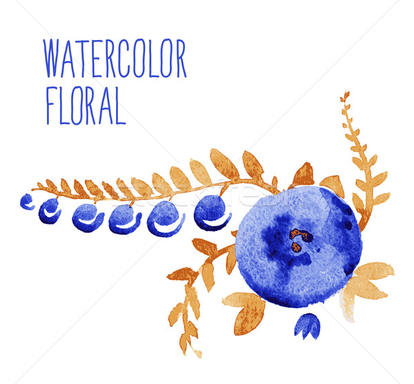 ストックフォト: 水彩画 · フローラル · 花束 · 装飾的な · フレーム
