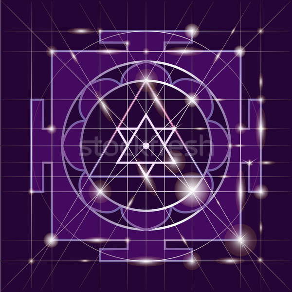 Sree  Ganapati Yantra. Sacred Geometry Stock photo © Mamziolzi