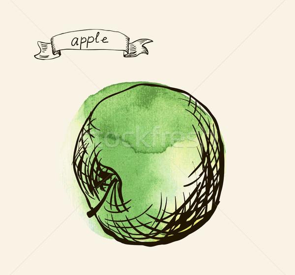 Frescos útil manzana alimentos mano resumen Foto stock © Mamziolzi
