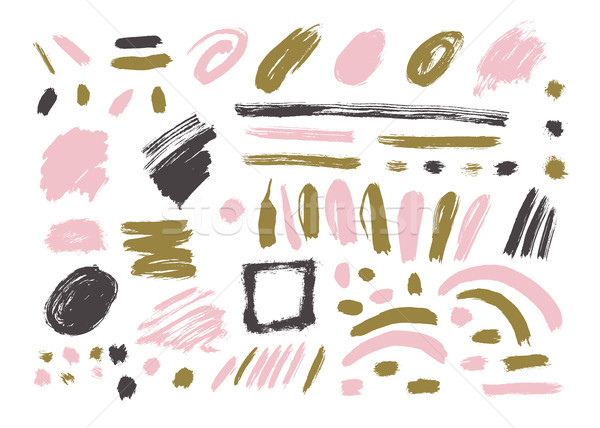 Stock photo: Grunge Brush Stroke set