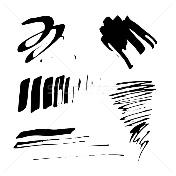Grunge nosso caneta conjunto vetor escove Foto stock © Mamziolzi