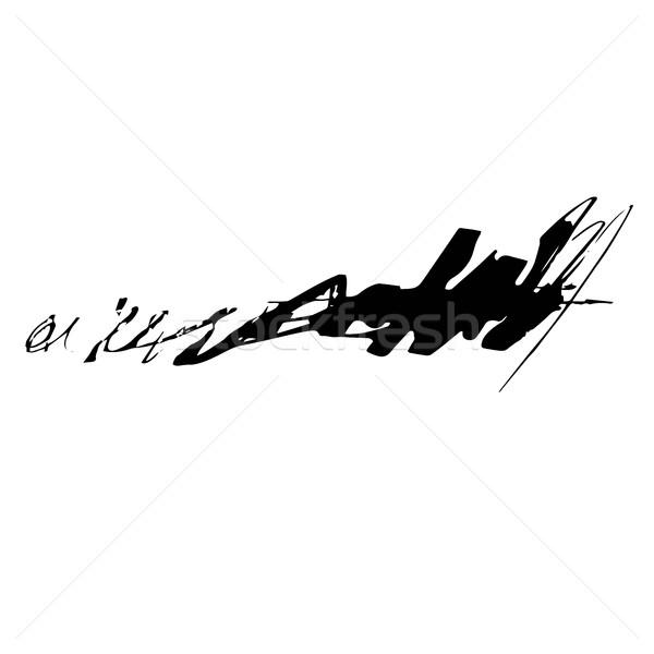 Grunge nosso caneta vetor escove preto Foto stock © Mamziolzi