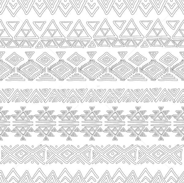Seamless abstract geometric pattern color book Stock photo © Mamziolzi