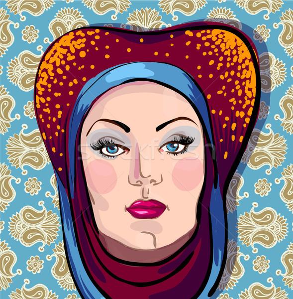 Kadın peçe moda dudaklar insan Stok fotoğraf © Mamziolzi