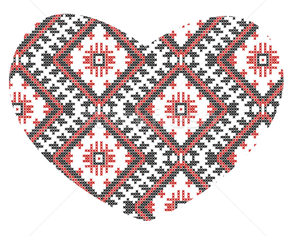vector Ukrainian national ornaments Stock photo © Mamziolzi
