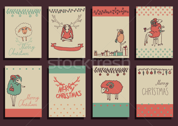 Vector Set Christmas Calligraphic Design Elements Stock photo © Mamziolzi