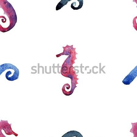 Hand Painted Seahorse.  Stock photo © Mamziolzi