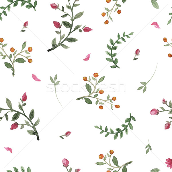 flowers watercolor pattern Stock photo © Mamziolzi