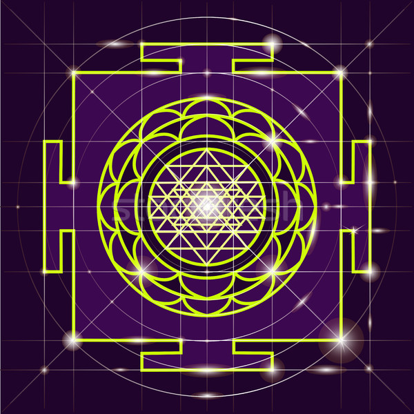 Sree Yantra. Sacred Geometry Stock photo © Mamziolzi