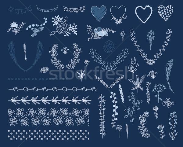 Groot ingesteld grafisch ontwerp communie grafische Stockfoto © Mamziolzi