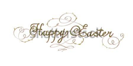 HAPPY EASTER hand lettering Stock photo © Mamziolzi