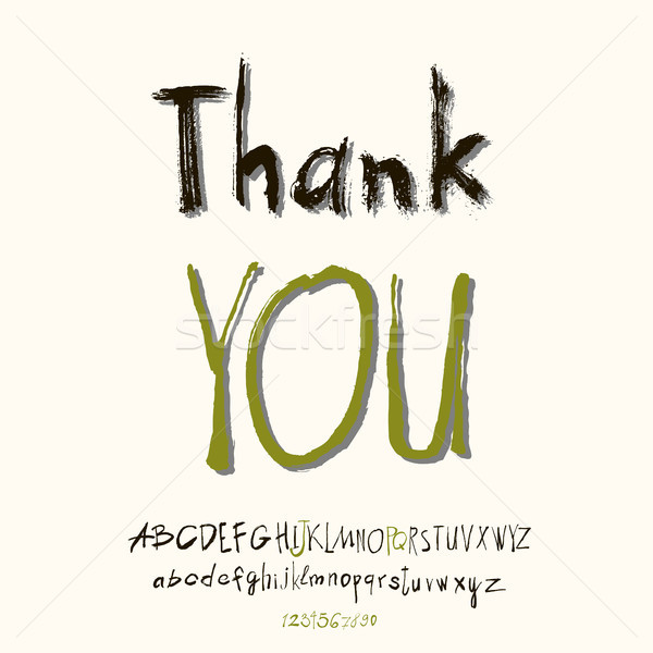 Thank you hand lettering Stock photo © Mamziolzi